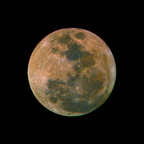 Earth's Moon in Saturated Color